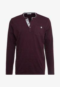 TOM TAILOR - STRIPED LONGSLEEVE - Long sleeved top - burgundy - 4