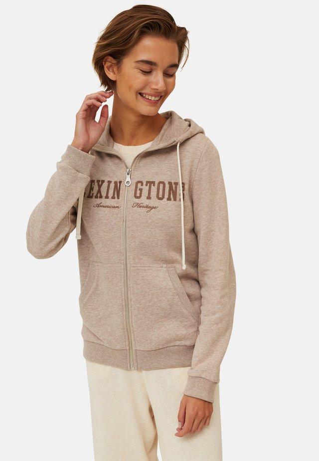 KIMBERLY - veste en sweat zippée - light brown melange