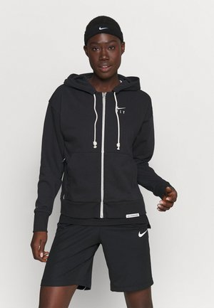 STANDARD ISSUE HOODIE - veste en sweat zippée - black/pale ivory