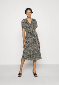 Soaked in Luxury - LOURDES WRAP DRESS - Day dress - beige - 0