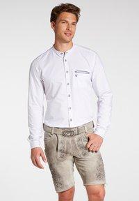 Spieth & Wensky - PETERSBERG - Leather trousers - braun - 0
