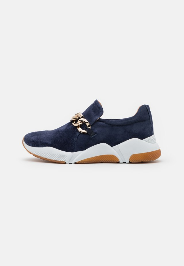 Mocassins - navy/gold