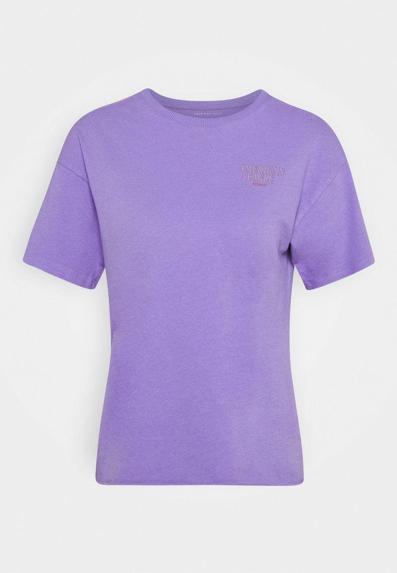 American Eagle - BRANDED BRIGHTS SANTA MONICA TEE - Print T-shirt - purple