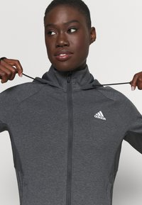 adidas Performance - Training jacket - dark grey/white - 3