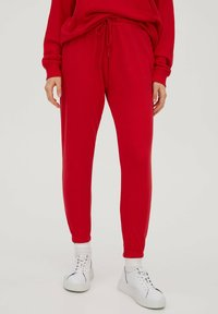 PULL&BEAR - Tracksuit bottoms - red - 0