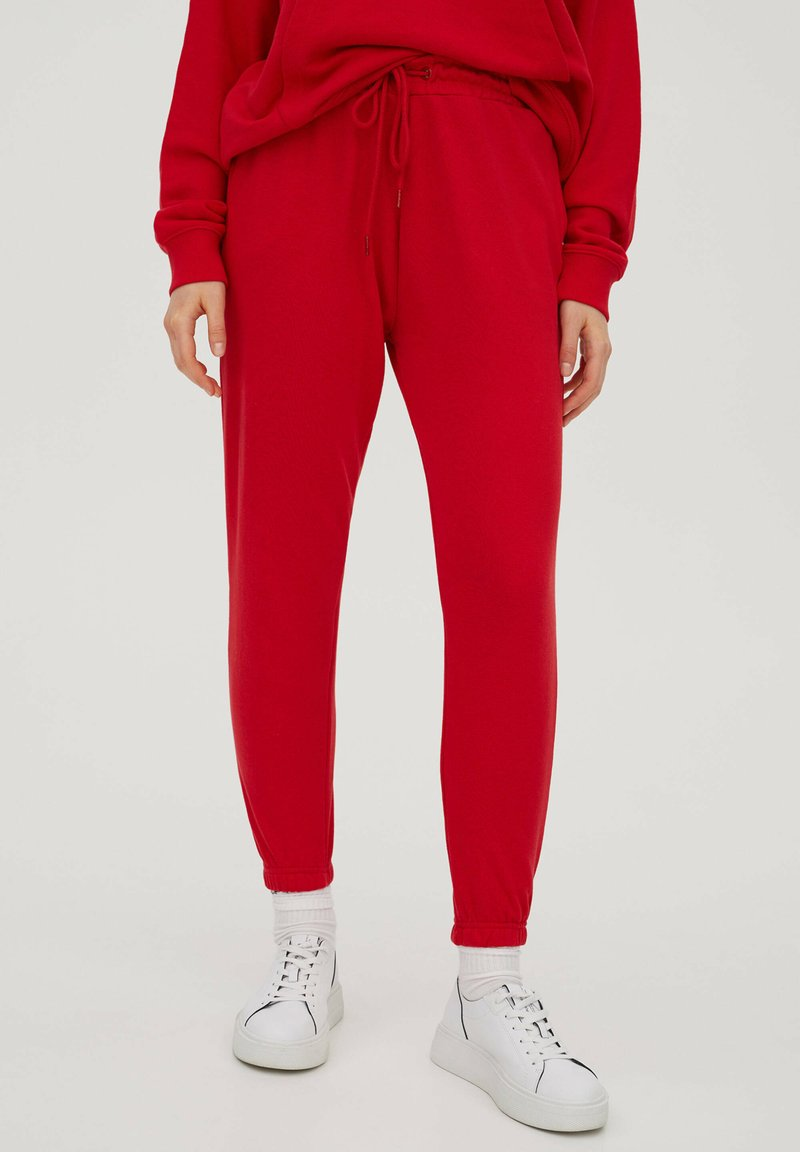 PULL&BEAR - Tracksuit bottoms - red