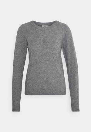 OBJTHESS O NECK  - Sweter - medium grey melange