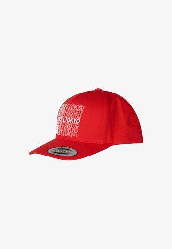 Cap - fiery red
