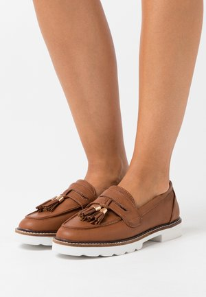 LEIGH LOAFER - Slip-ons - tan