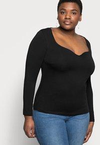 Anna Field Curvy - Långärmad tröja - black - 3