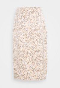 Abercrombie & Fitch - WEBEX TRIM MIDI - A-line skirt - white/brown - 1