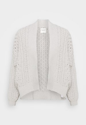 CHENILLE IN CABLE CARDI - Kardigan - cream