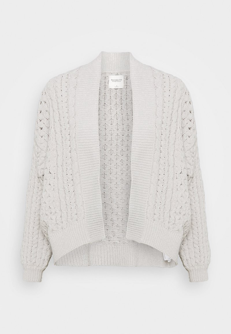 Abercrombie & Fitch - CHENILLE IN CABLE CARDI - Cardigan - cream
