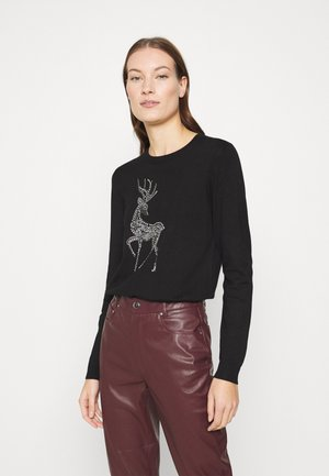 CHRISTMAS REINDEER HOTFIX - Jumper - black