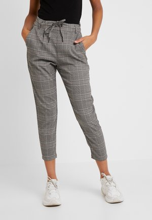 ONLPOPTRASH EASY SAVIL CHECK PANT - Trousers - black/multi-coloured