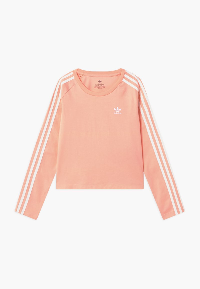 adidas Originals - 3 STRIPES - Langærmede T-shirts - hazcor/white