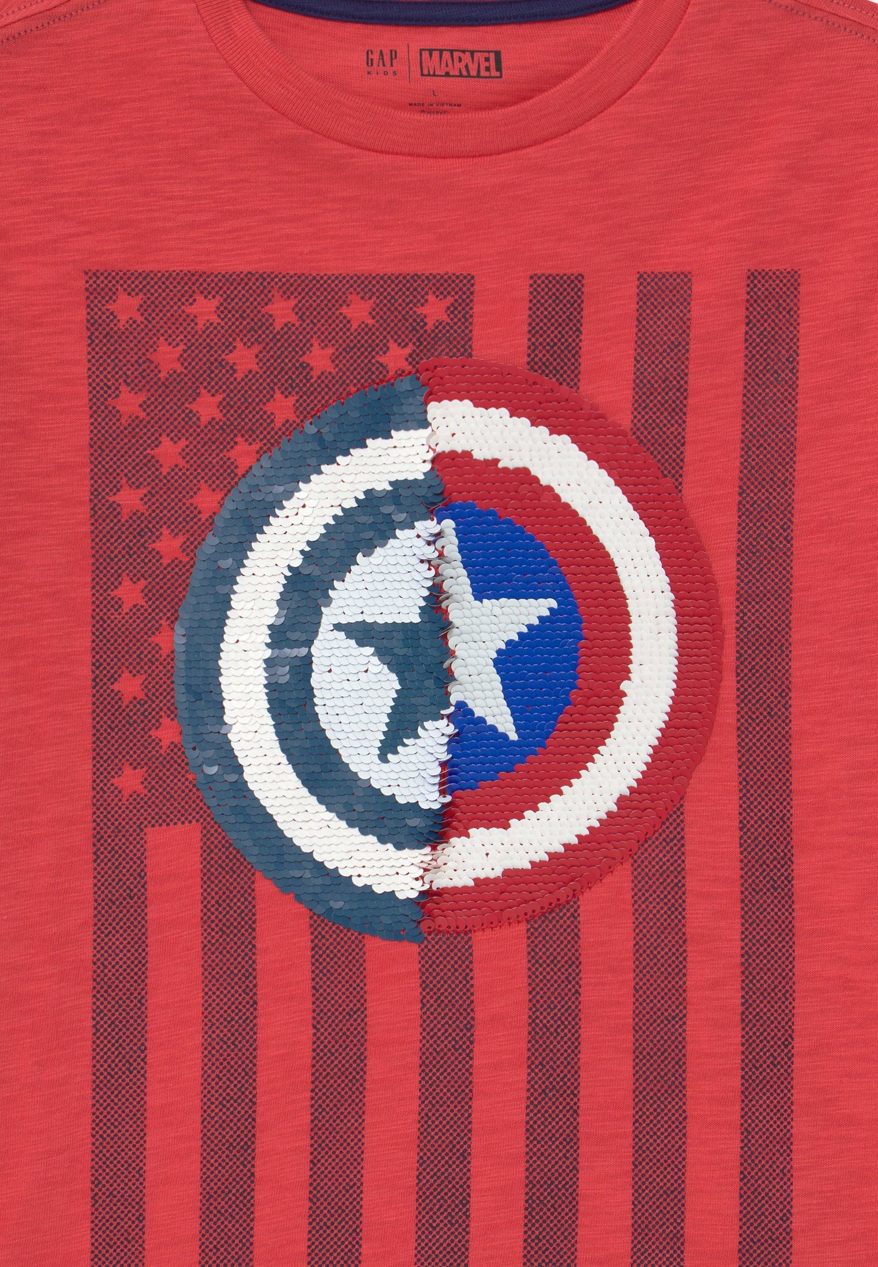 GAP BOY FLIPPY - Print T-shirt - buoy red 6ENb3