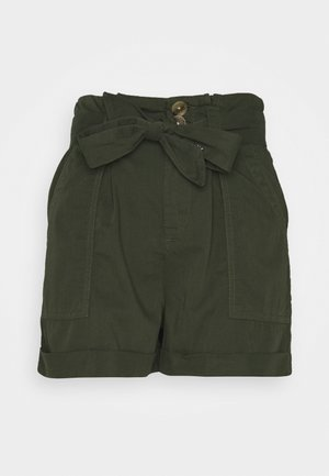 PAPERBAG TENCEL SHORTS - Szorty - khaki