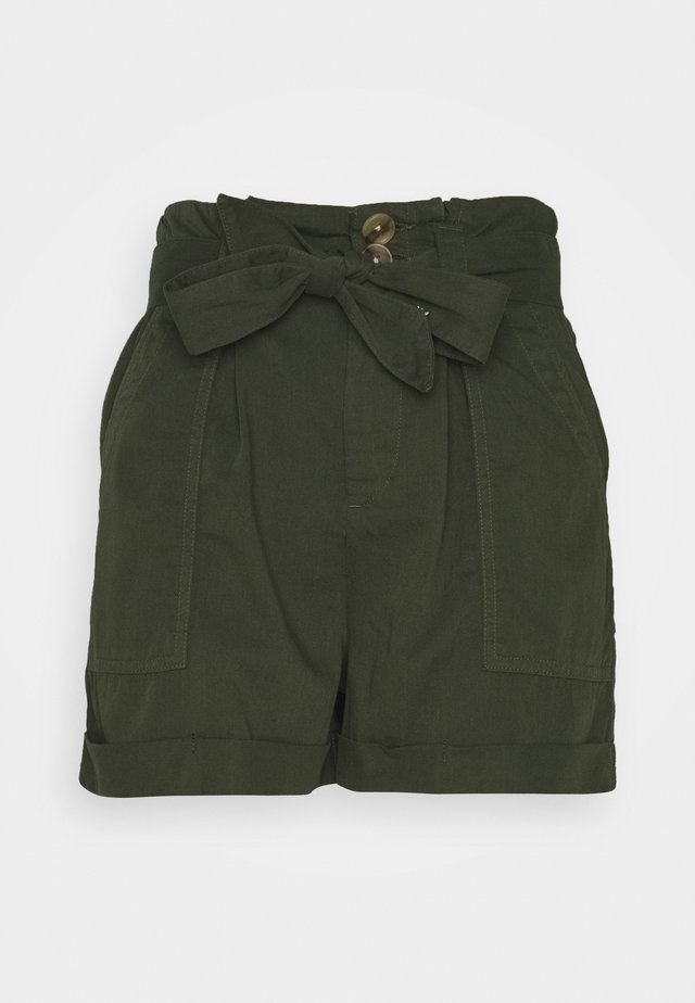 PAPERBAG TENCEL SHORTS - Shorts - khaki