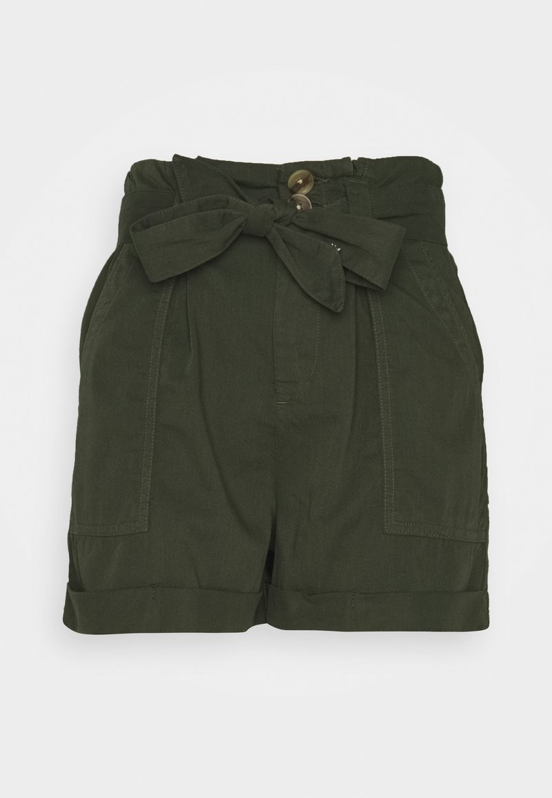 Miss Selfridge - PAPERBAG TENCEL SHORTS - Shorts - khaki