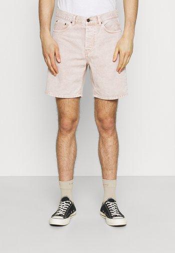 NEWEL PARKLAND - Denim shorts - dusty brown worn washed