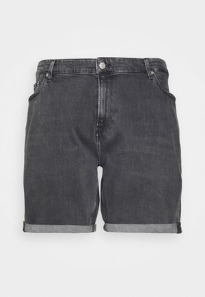 REGULAR - Jeansshorts - black