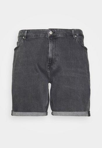 REGULAR - Denim shorts - black