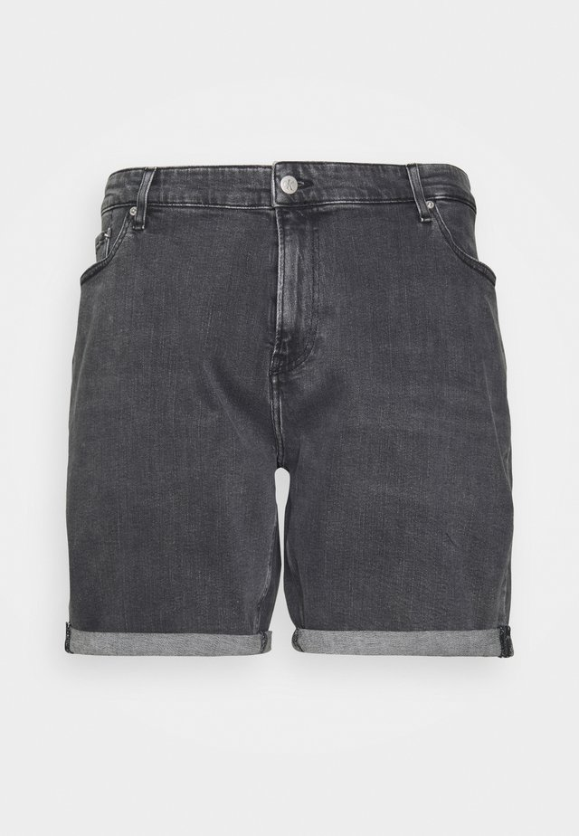 REGULAR - Shorts di jeans - black