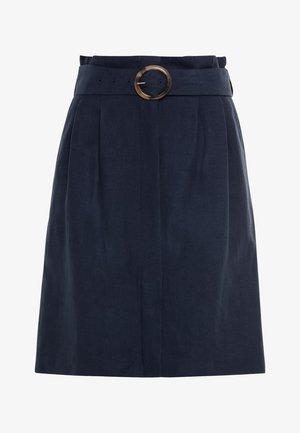 MIT LEINEN & TENCEL™ - A-line skirt - indigo