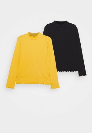 NKFLINNEA 2 PACK - Long sleeved top - black