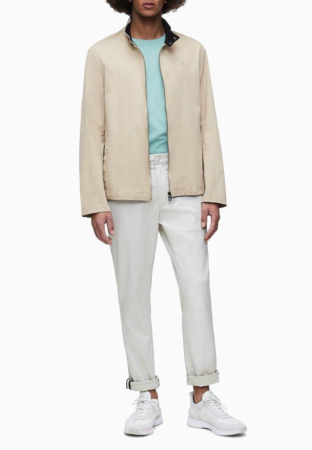 TWILL ZIP UP  - Summer jacket - travertine