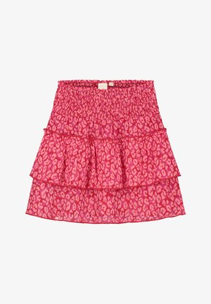 ADEJE LAYER RUFFLE - A-line skirt - chili red