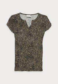 Kaffe - EDMONDA  BLOUSE  - Print T-shirt - khaki - 3