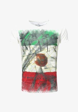 TEAM ITALY ROUND - Print T-shirt - white