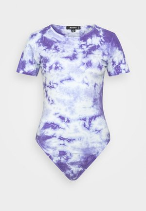 TIE DYE CAP SLEEVE - Camiseta estampada - blue