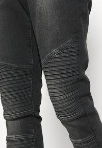 11 DEGREES - BIKER - Jeans Skinny Fit - washed black - 4