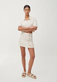 PULL&BEAR - Áčková sukně - beige - 1