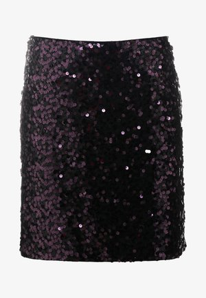 ROMMIE - Pencil skirt - dark purple