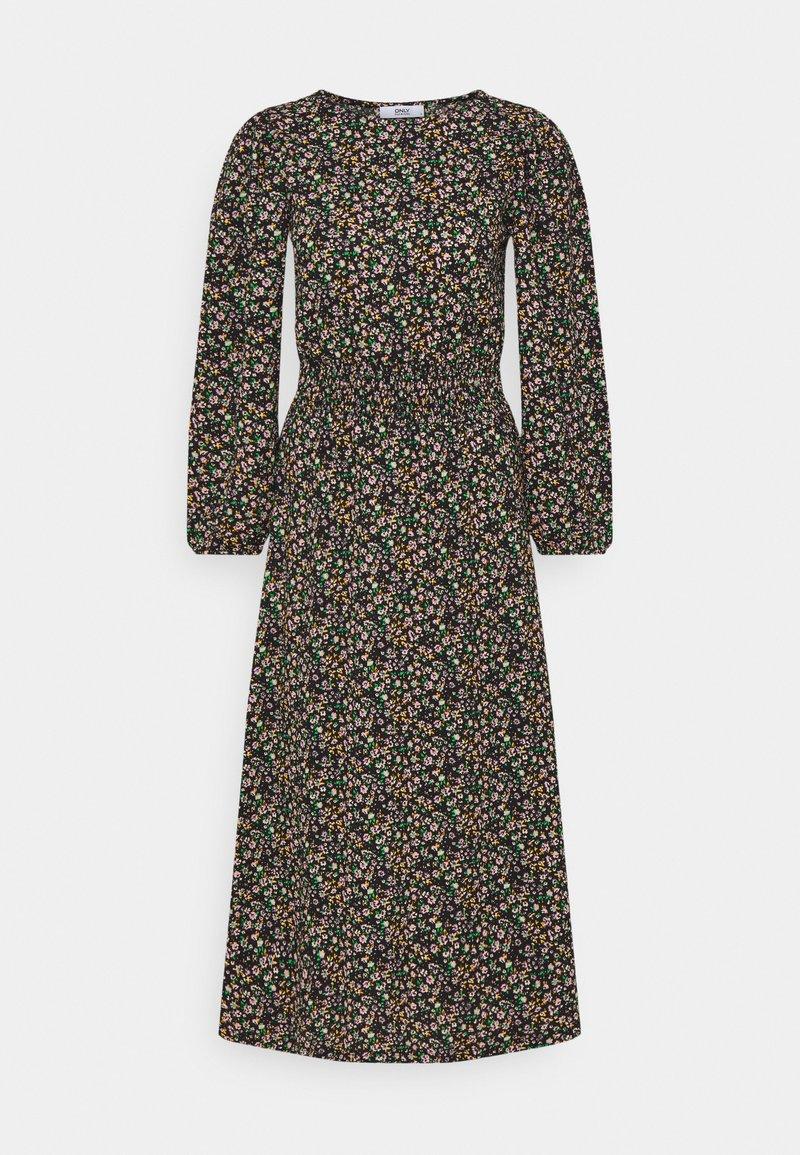 ONLY Tall - ONLZILLE SMOCK MIDI DRESS - Day dress - black