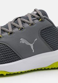Puma Golf - GRIP FUSION SPORT 3.0 - Golfskor - quiet shade/silver/limepunch - 5