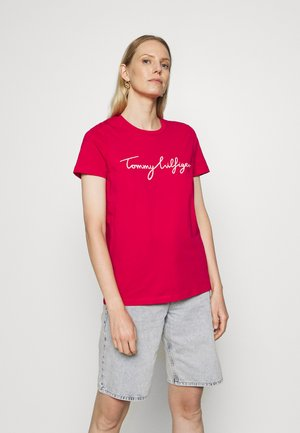 CREW NECK GRAPHIC TEE - Camiseta estampada - ruby jewel