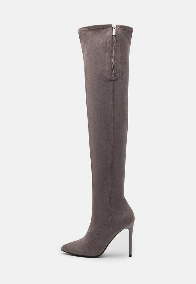 Laarzen met hoge hak - grey