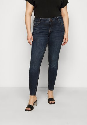 VMLYDIA - Jeansy Skinny Fit - dark blue denim