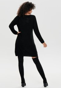 JDY - JDYTERI LS DRESS - Strikkjoler - black - 2