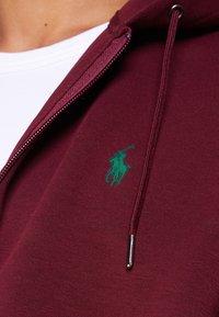 Polo Ralph Lauren - DOUBLE TECH - Zip-up hoodie - classic wine - 4
