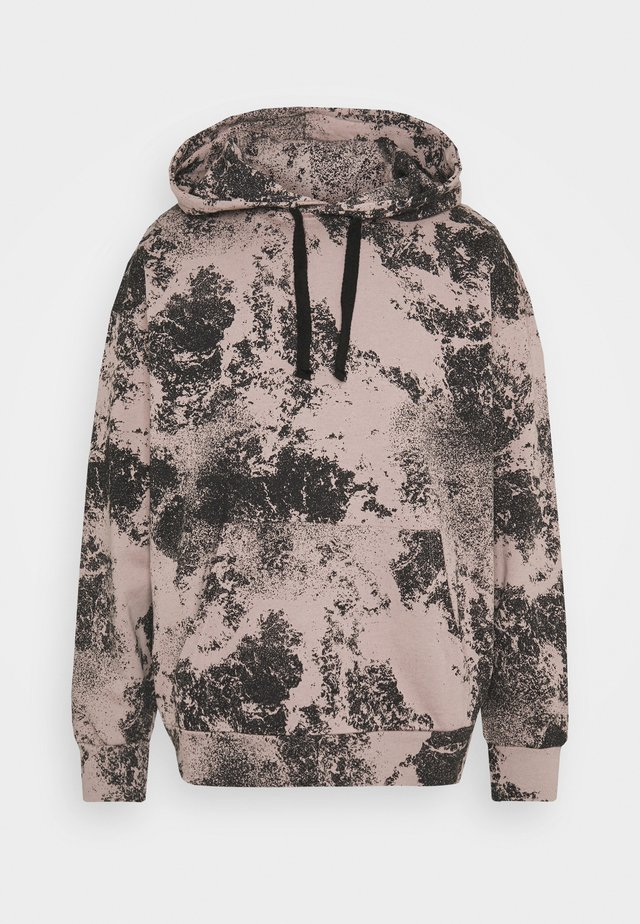 POLLUTION PRINT OVERSIZED HOODIE - Collegepaita - print