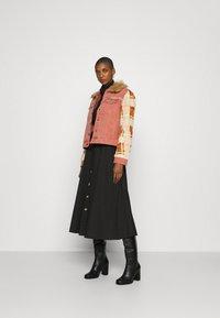 Desigual - CHAQ CHECKIS - Denim jacket - rosa palido - 1
