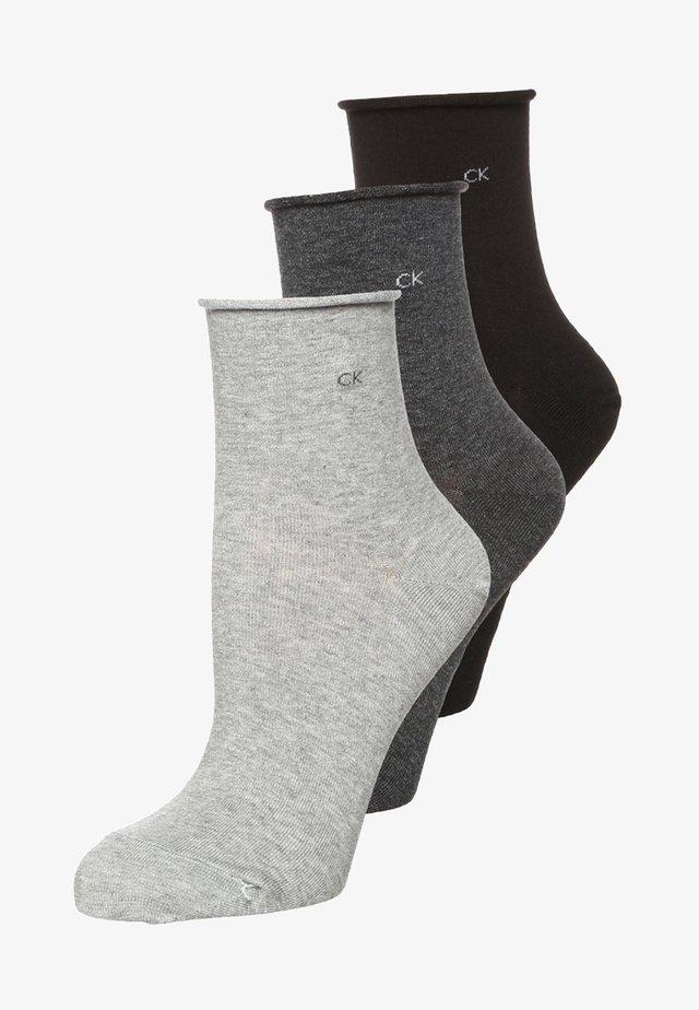 3 PACK - Socken - charcoal melange/grey melange/black