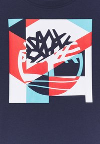 Timberland - SHORT SLEEVES TEE - Print T-shirt - navy - 2