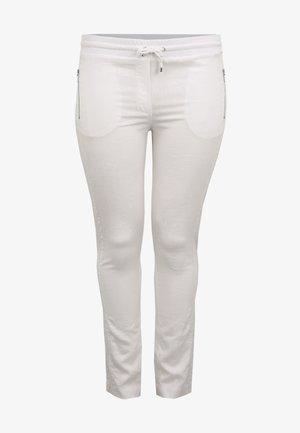 MIT REISSVERSCHLUSSTASCHEN - Trousers - weiß
